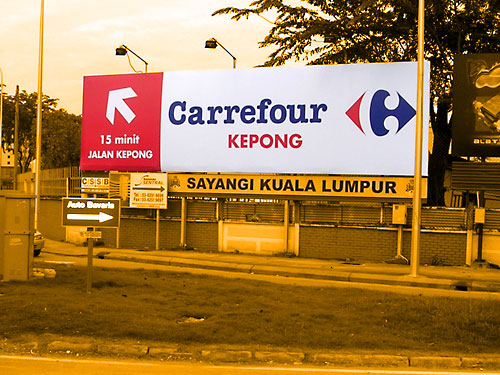 10x40 Billboard - Carrefour